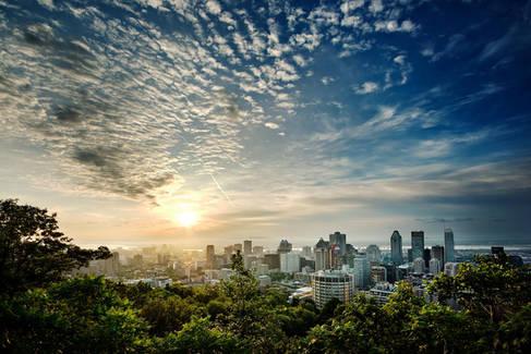 Lever du Soleil sur Montréal