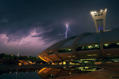 Orage sur le Stade Olympique