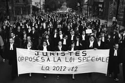 Juristes opposés à la loi spéciale