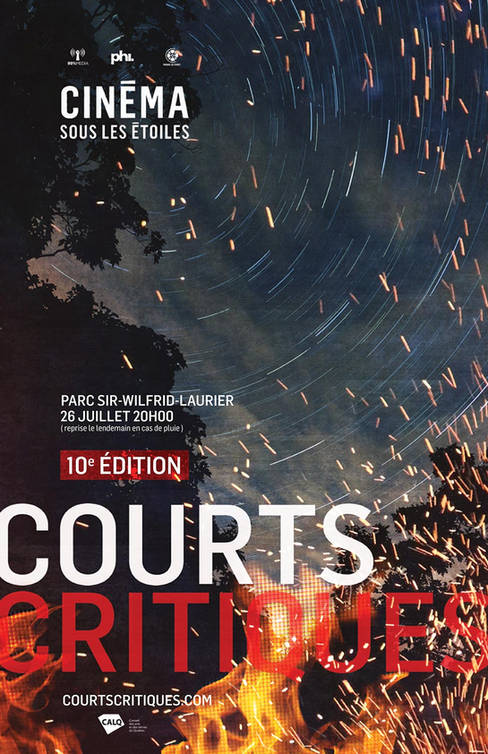 Affiche pour la 10e édition de Courts Critiques