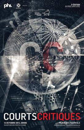 Affiche de la 3e édition de Courts Critiques