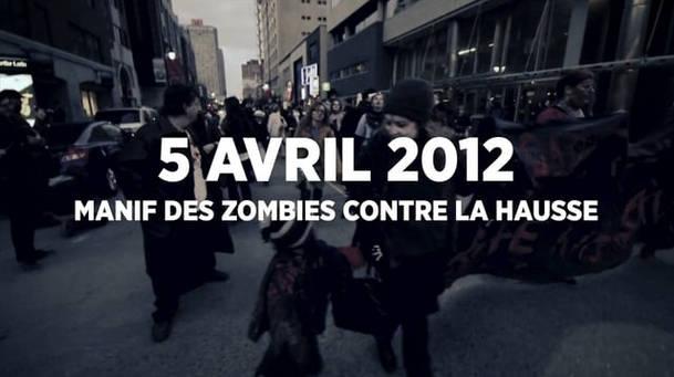Manif des zombies contre la hausse