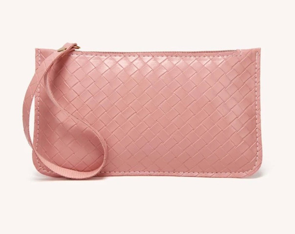 The Wealth Stash Wristlet in Rose