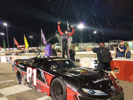 Colby Howard wins the Show Me The Money Series Pro Late Model 100