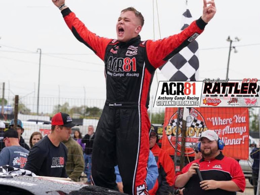Giovanni Bromante Wins Annual Rattler 250 at South Alabama Speedway.