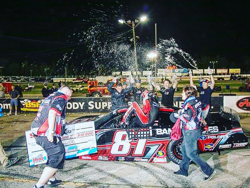 Chase Purdy wins the Dixieland250 at Wisconsin International Raceway.