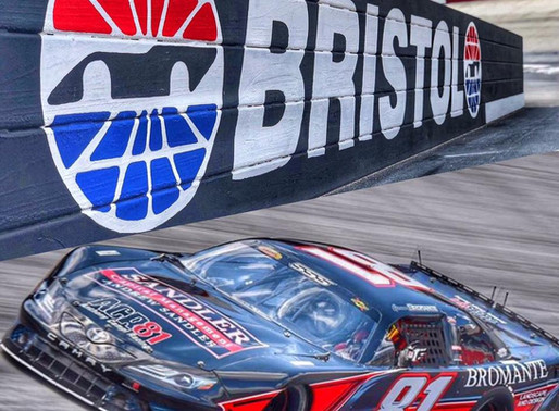 Bristol Motor Speedway Hard contact with the outside wall
