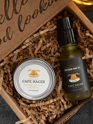 Cafe Racer oil and balm set