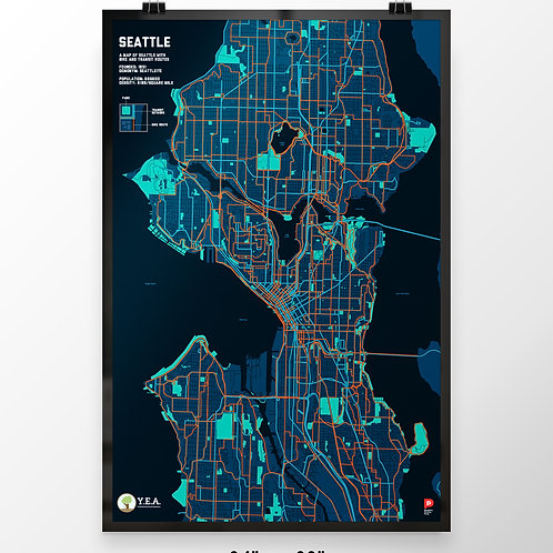YEA - Seattle Trails & Parks Map