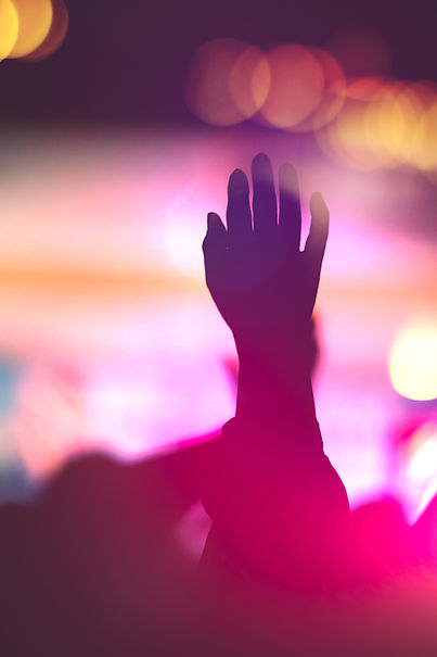 Silhouette photo of Christian worship Go