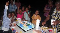 Isaiah shared his 7th birthday celebration at the Hope Centre facility.