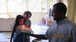 Soraya shared her birthday celebration with Hope Centre children