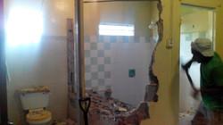 demolishing of previous single bath