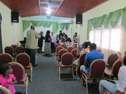 Sunday evening service at the Hope Centre.