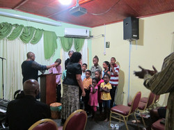 praying for the children for the new school term.