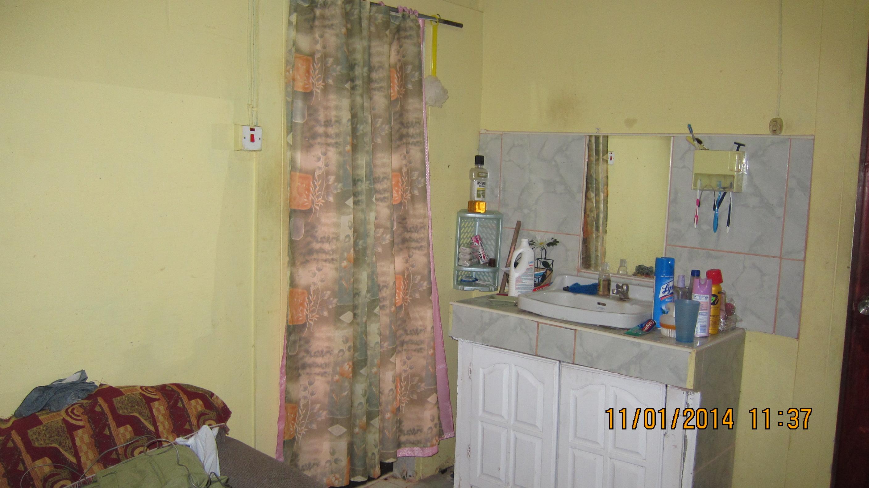 corridor view of bath area