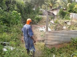 Jason, one of the builder preparing