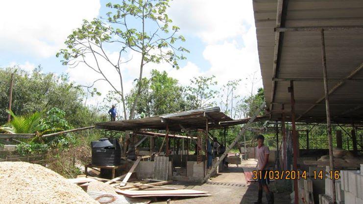 construction on farming area