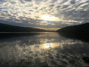 Sun-scatter across Padarn Lake