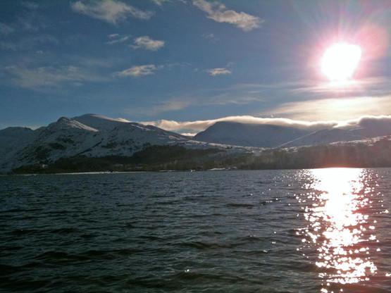 Winter view across Padarn Lake