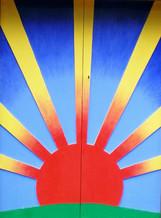 Sunshine door to the workshop