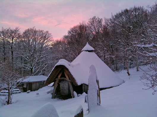 The roundhouse in winter