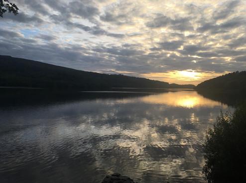 Padarn Lake at Sunset