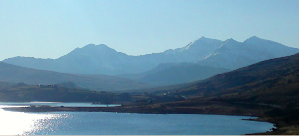 View towards Yr Wyddfa / Snowdon from Capel Curig