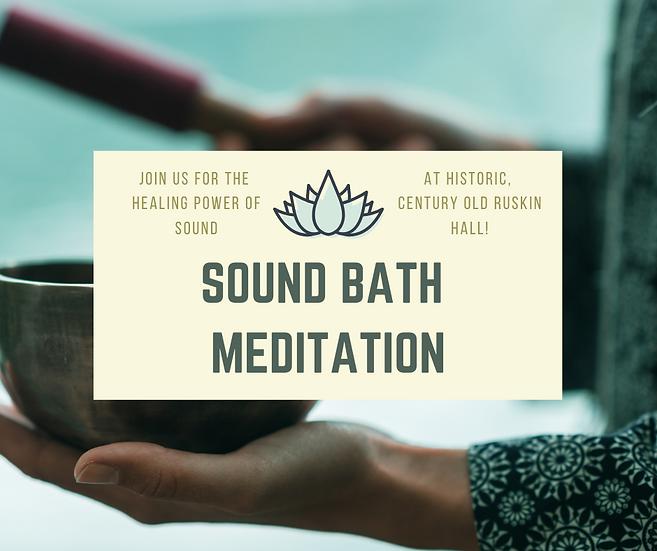 Sound Bath - Nov. 12, 2020