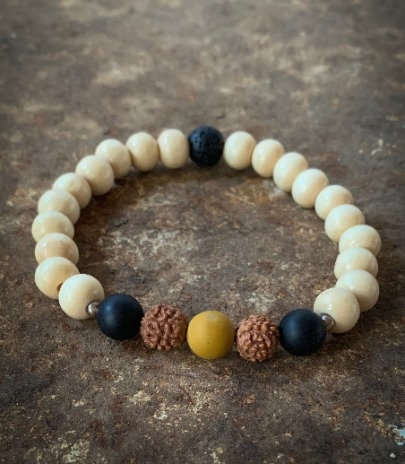 """I am protected on my journey"" - Mala Bracelet"