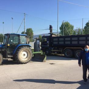 Al via la manutenzione del campo sussidiario Cherubini
