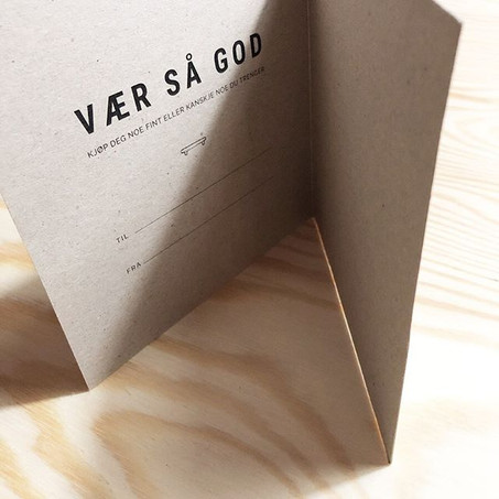Gavekort på kvistpapir
