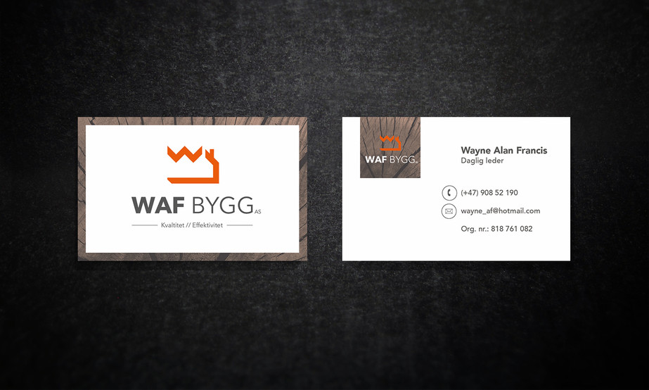 Logo og visittkort til nytt byggefirma