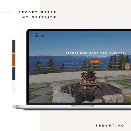 Frøset Østre - ny nettside og branding