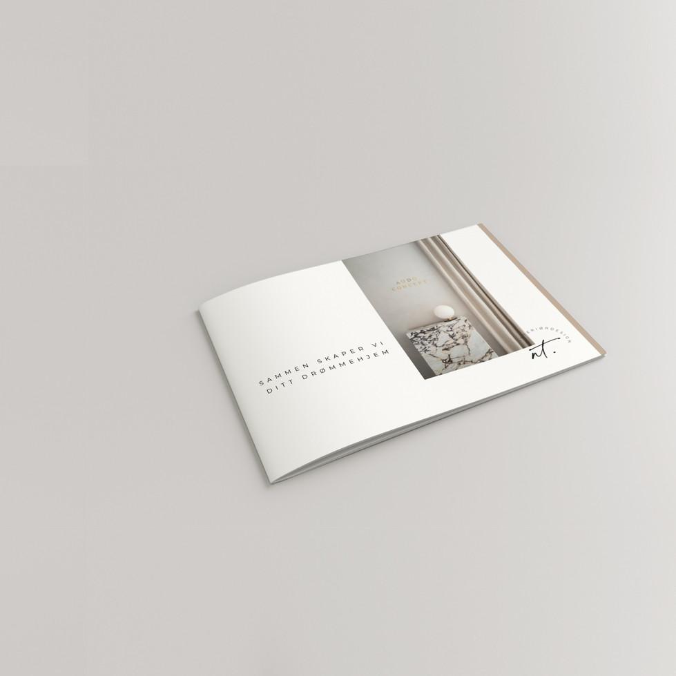 Designet brosjyre for NT interiørdesign.