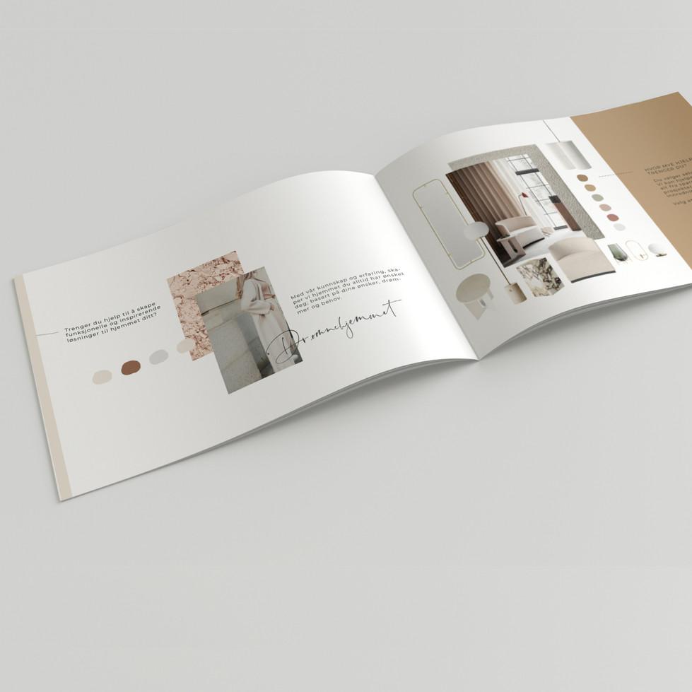 Designet brosjyre for NT interiørdesign