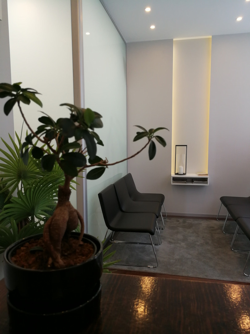 Sala de espera Novagaiaclinic Reabilitação Oral