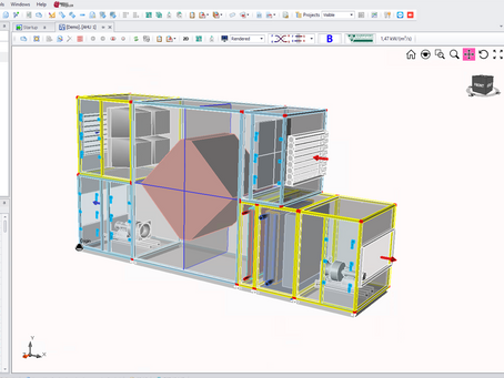 Why is the Air Handling Unit Selection software important for manufacturers?