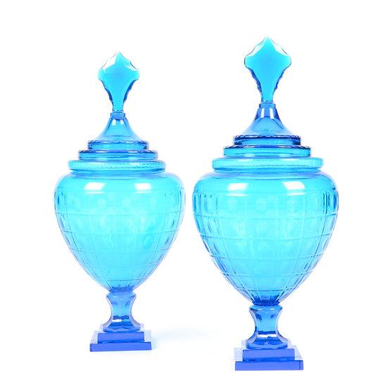 Turquoise Glass Jar