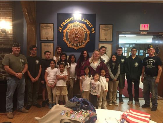 Scouts Do a Good Turn for American Legion