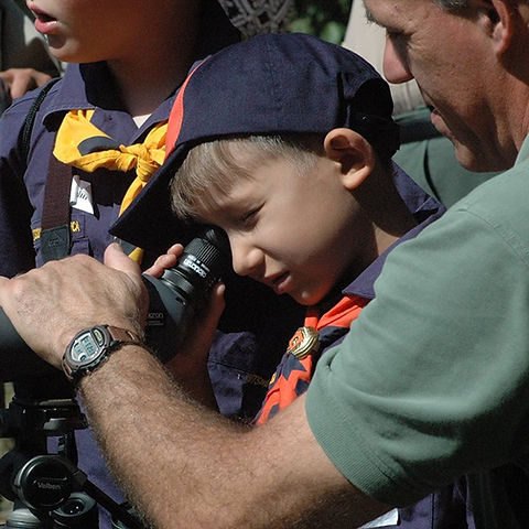 Cubscout Kearny bird watching