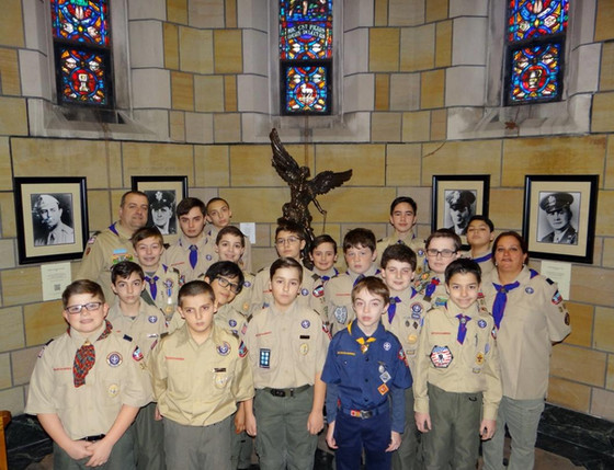 Scout Sunday at St. Stephens R.C.C.