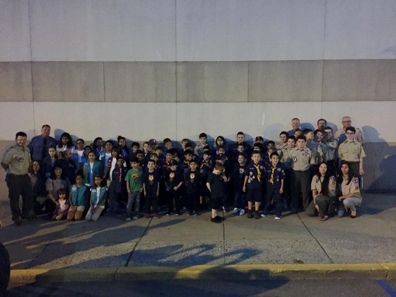 Pack 305 and Troop 305 Tour Headquarters of Kearny Police Department