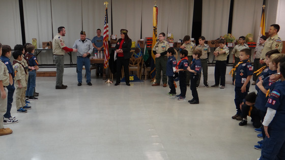 Cub Scouts and Boy Scouts of Kearny in Unit 305 learn about Service & Sacrifice on Veterans Day