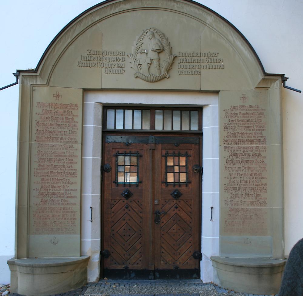Unterensingen Kirche Kriegsdenkmal Wilhelm Kemmner