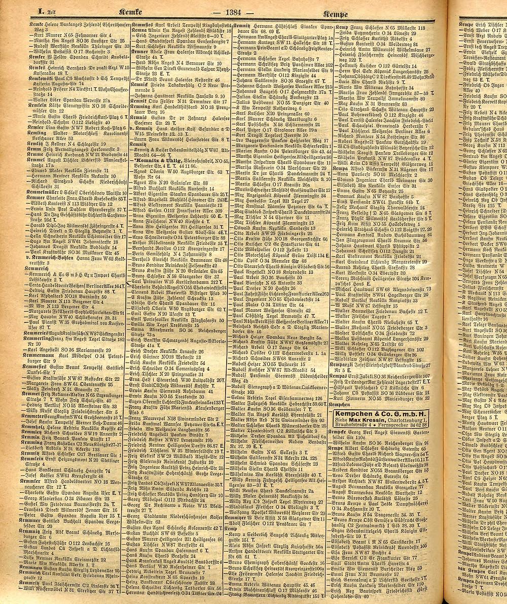 Adressbuch Berlin 1940