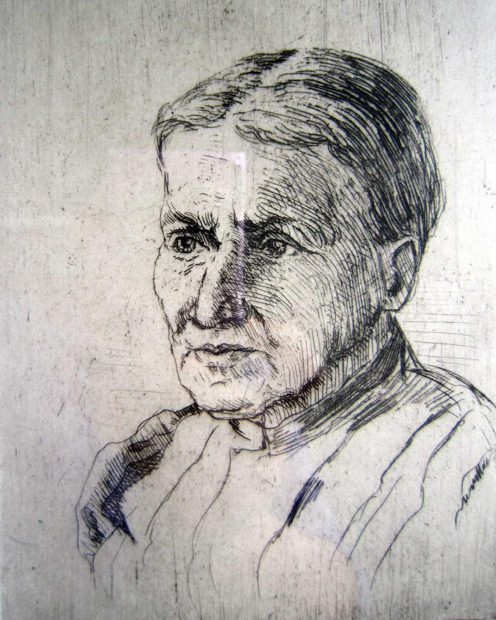 Christiane Kemmner Gustav Kemmner Radierung