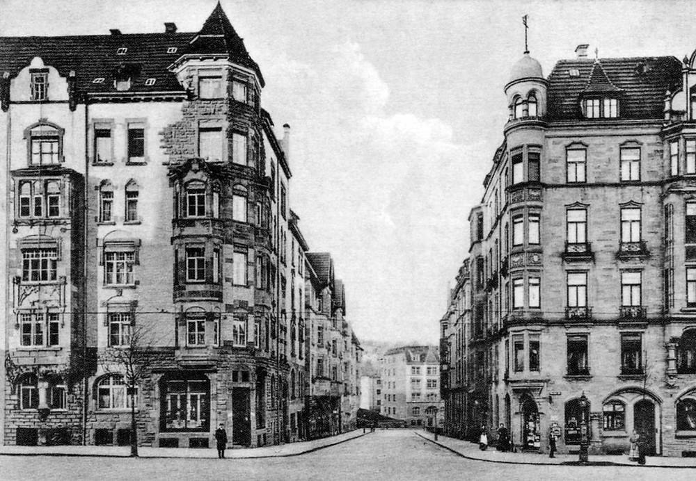 Stuttgart 1907 Moltkestraße Seyffertstraße