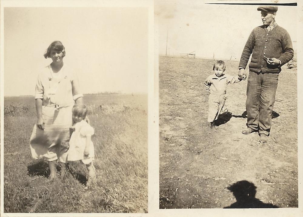 Ernest und Gussie Kemmner mit Tochter Elsie 1930