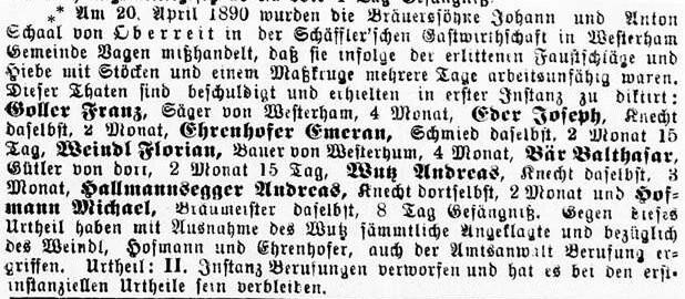 Johann Schaal Anton Schaal Oberreit Vagen